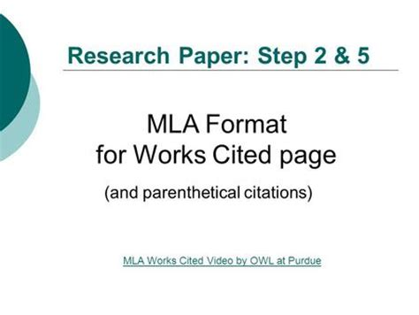 Citation format in thesis